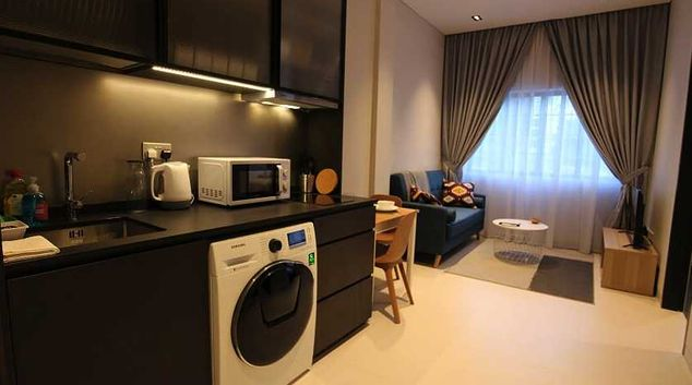 Living room at Tiong Bahru Serviced Apartments, Singapore