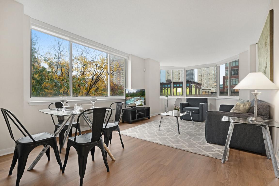 Chairs at Marbella Washington Boulevard Apartments, Centre, Jersey City