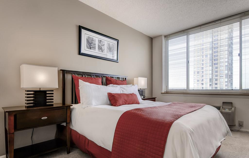 Bed at Marbella Washington Boulevard Apartments, Centre, Jersey City