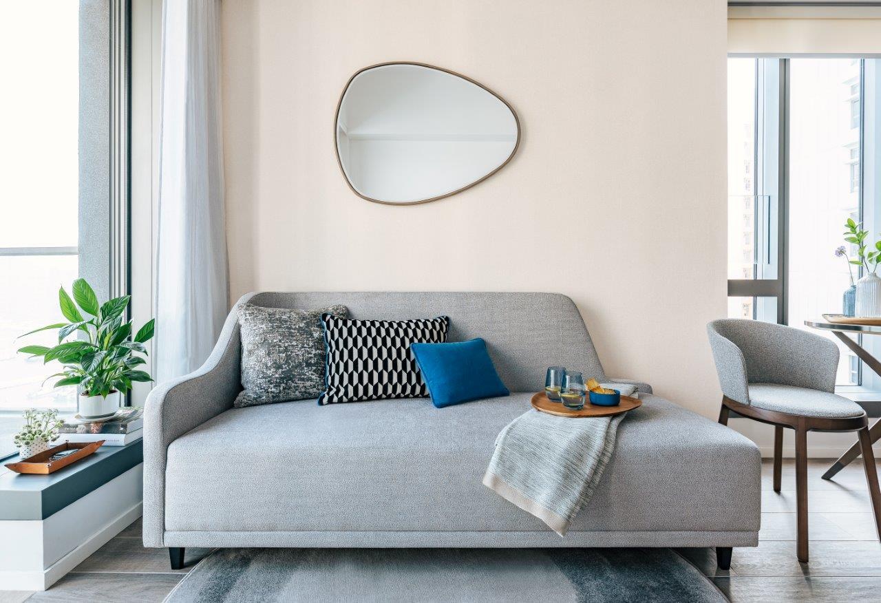 Sofa at Waterfront Suites Apartments