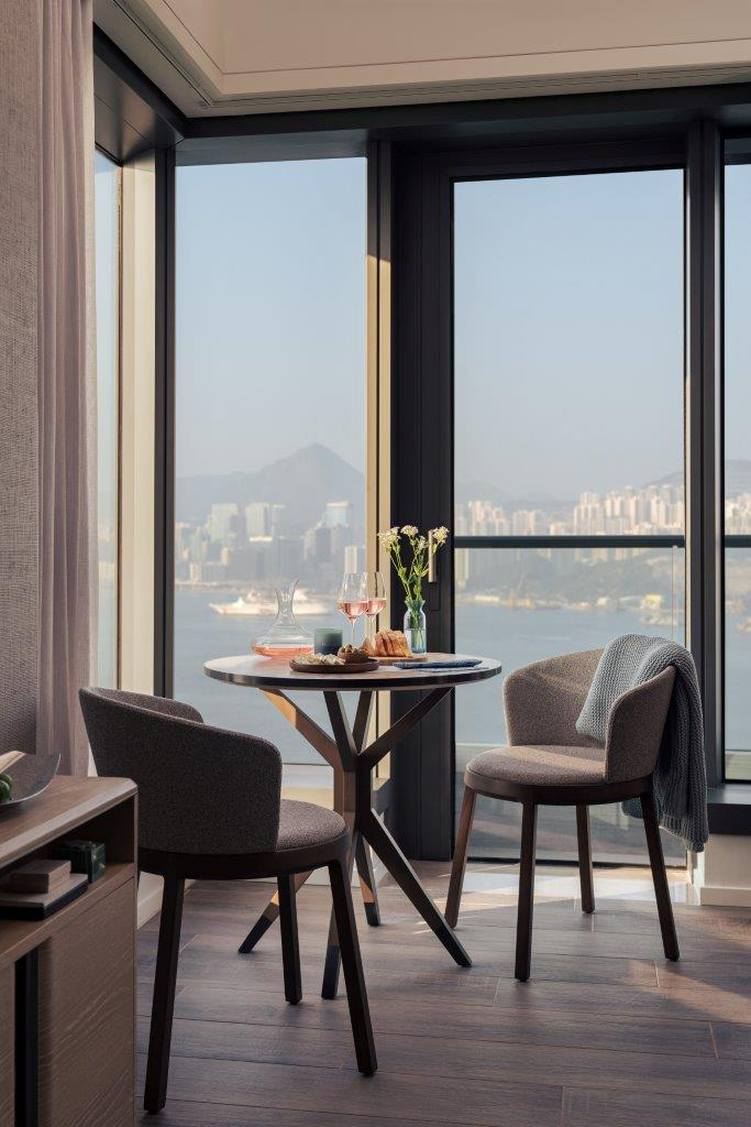 Dining table at Waterfront Suites Apartments