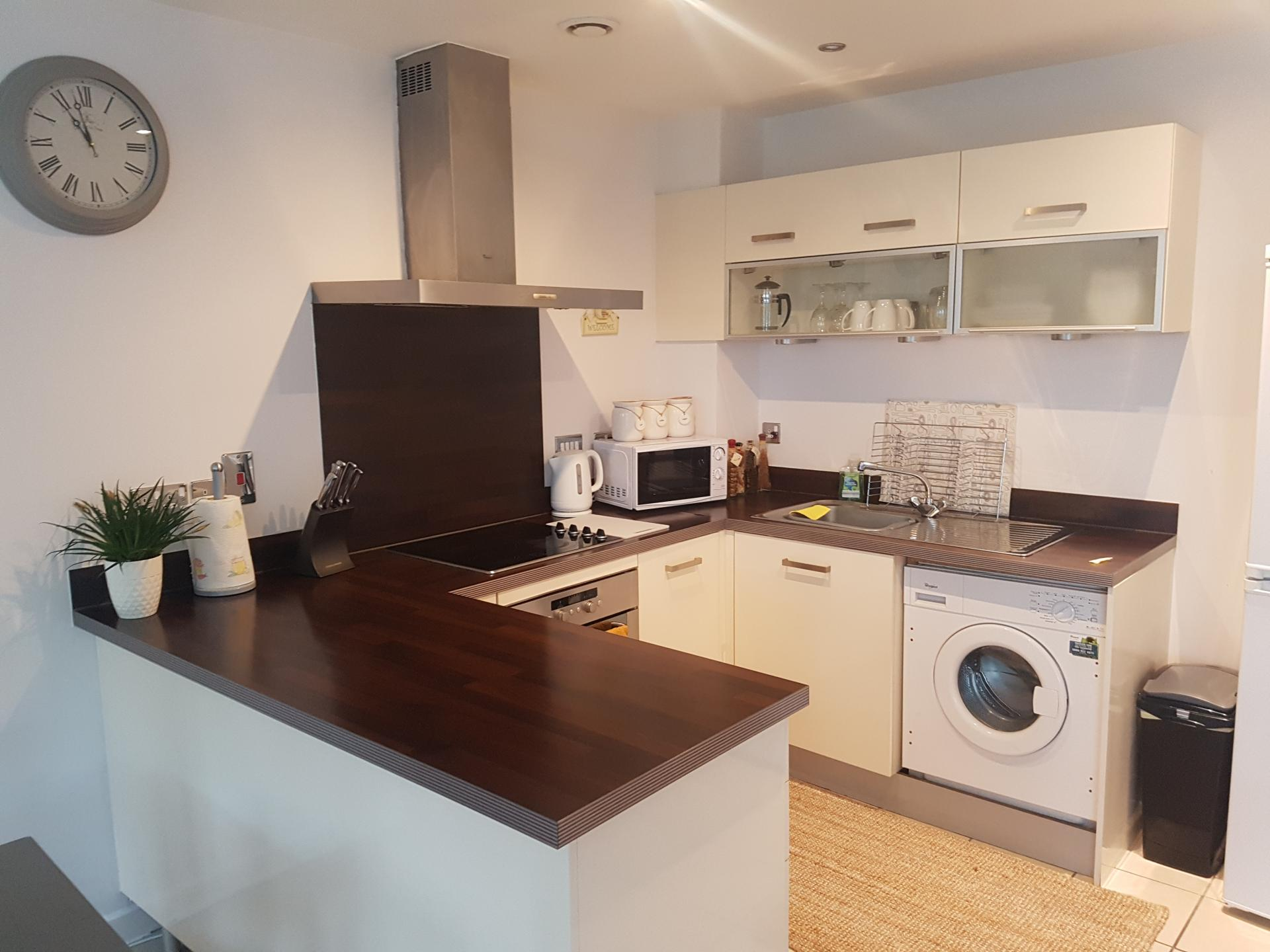 Kitchen at Alpha House Apartment, Centre, Northampton