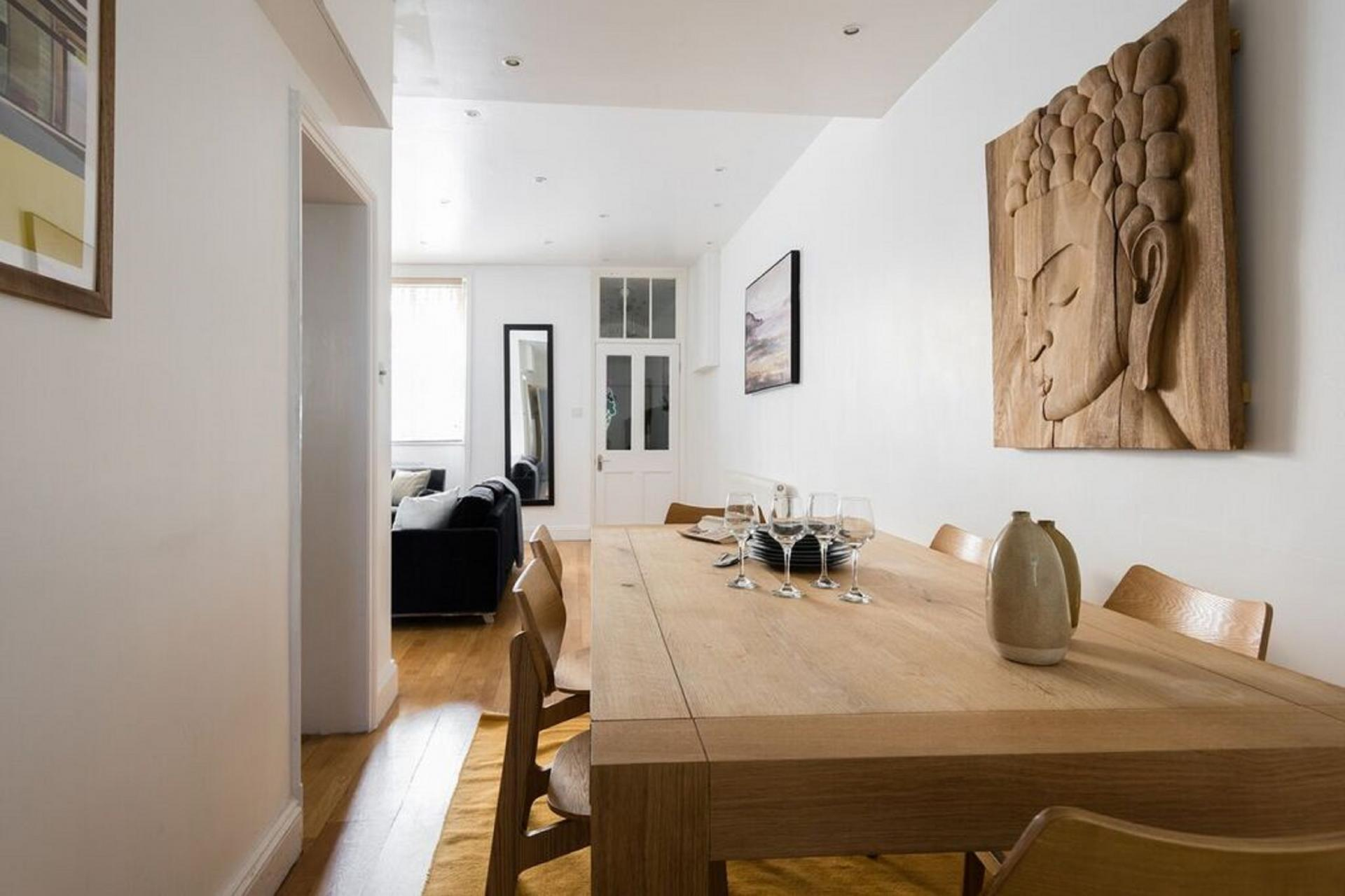 Dining table at The Bayswater Gardens House, Bayswater, London