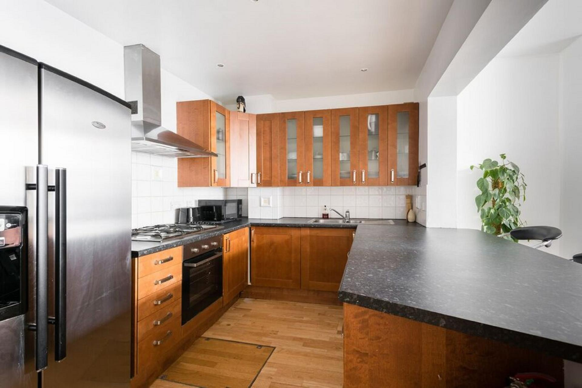 Fully equipped kitchen at The Bayswater Gardens House, Bayswater, London
