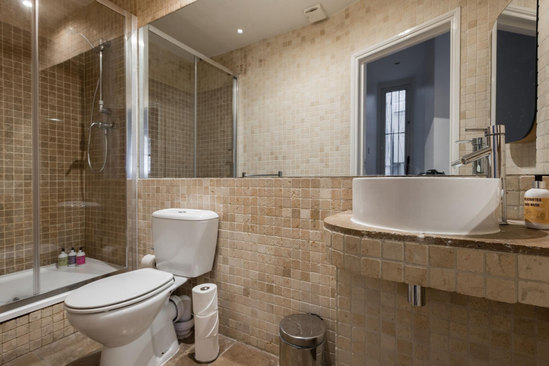Shower at The Bayswater Gardens House, Bayswater, London