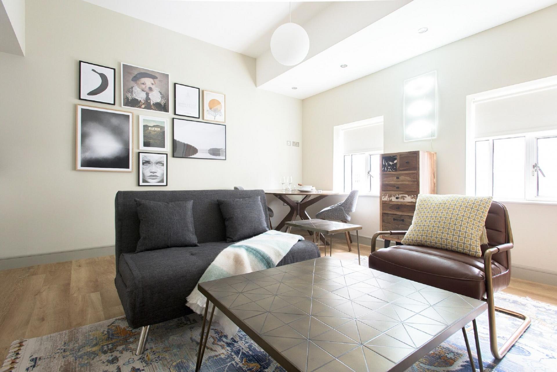Living area at The Soho Loft, Mayfair, London