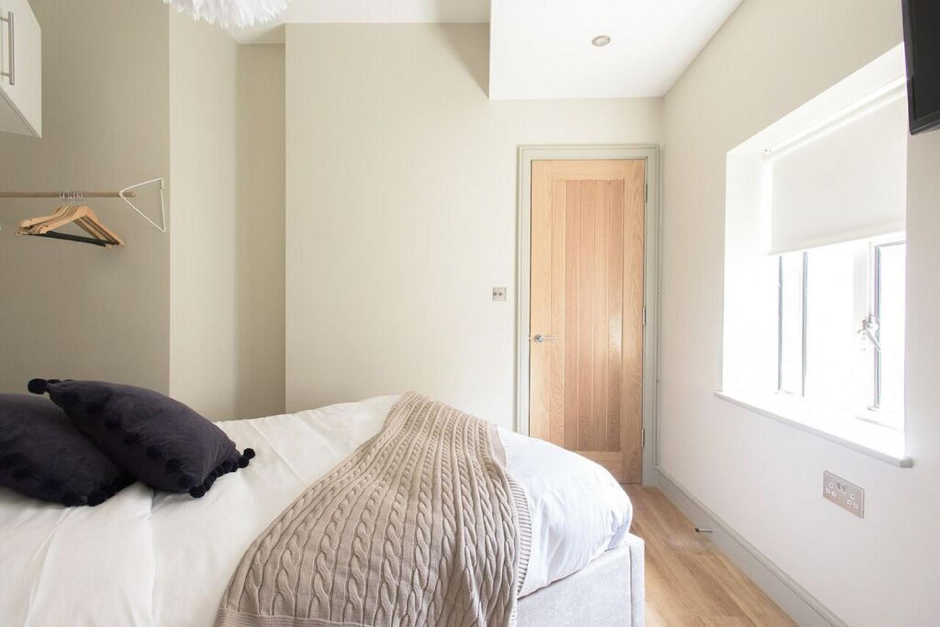 Bedroom layout at The Soho Loft, Mayfair, London