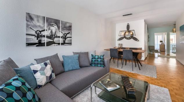 Living room at Contamines Apartment, Contamines, Geneva