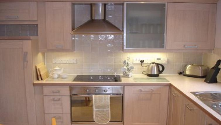 Stylish kitchen in Herons Ghyll Apartment