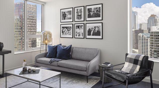 Living area at Arrivé Apartment
