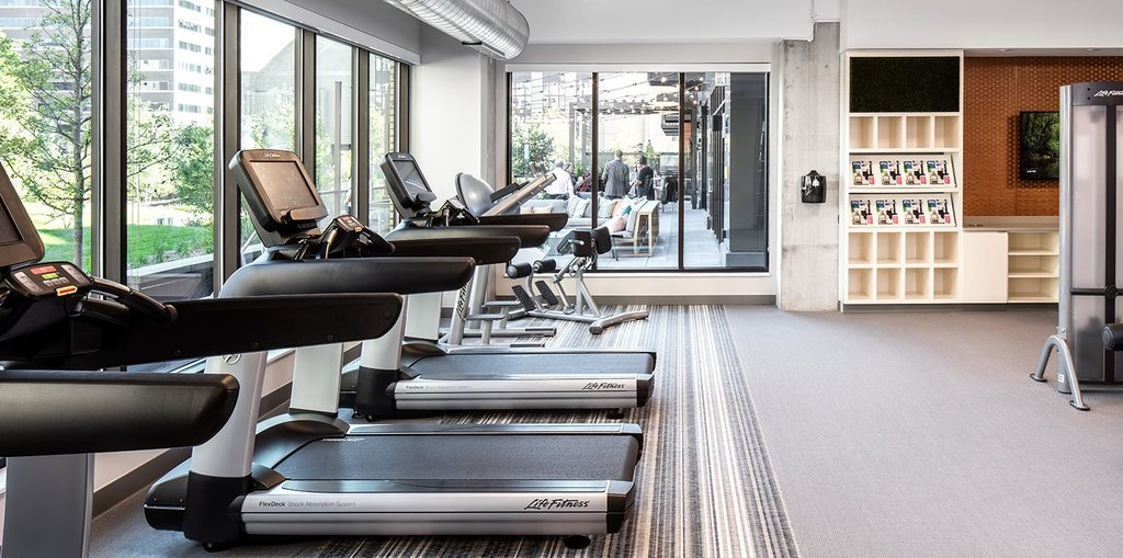 Fitness centre at The Edition Apartments