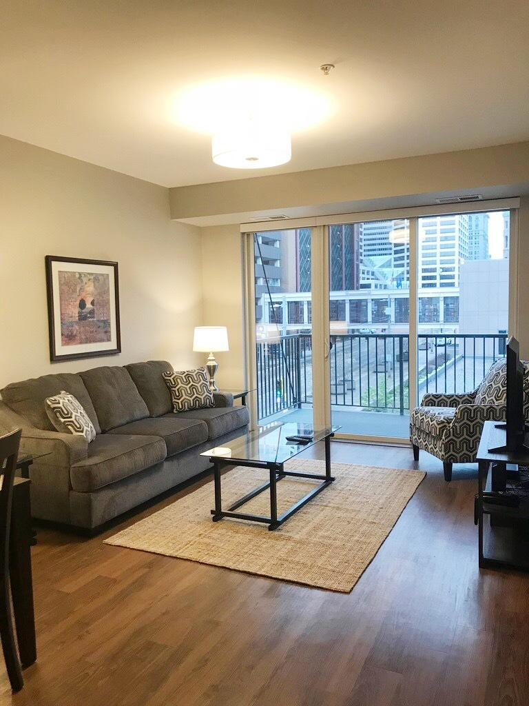 Living room at The Edition Apartments