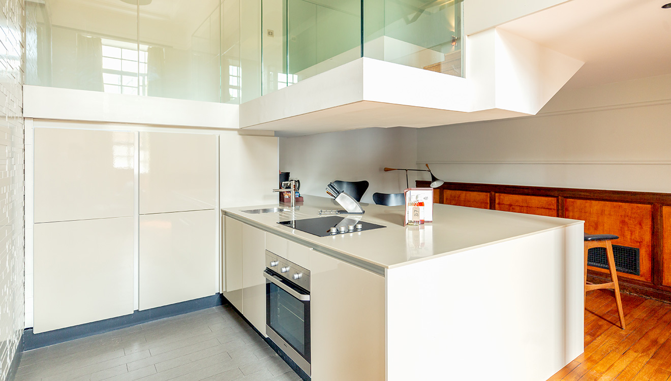 Kitchen at Town Hall Apartments