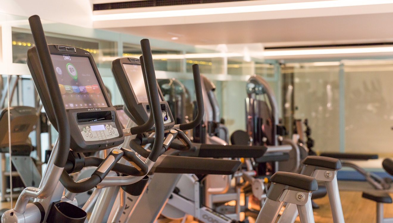 Gym at Town Hall Apartments