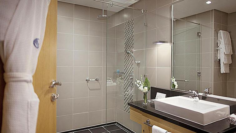 Stylish bathroom in Hala Arjaan Apartments