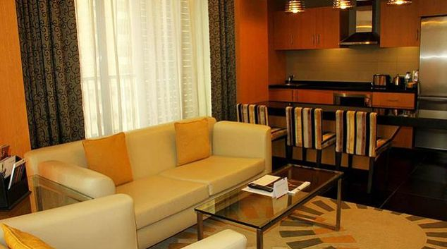 Lovely living area in Hala Arjaan Apartments