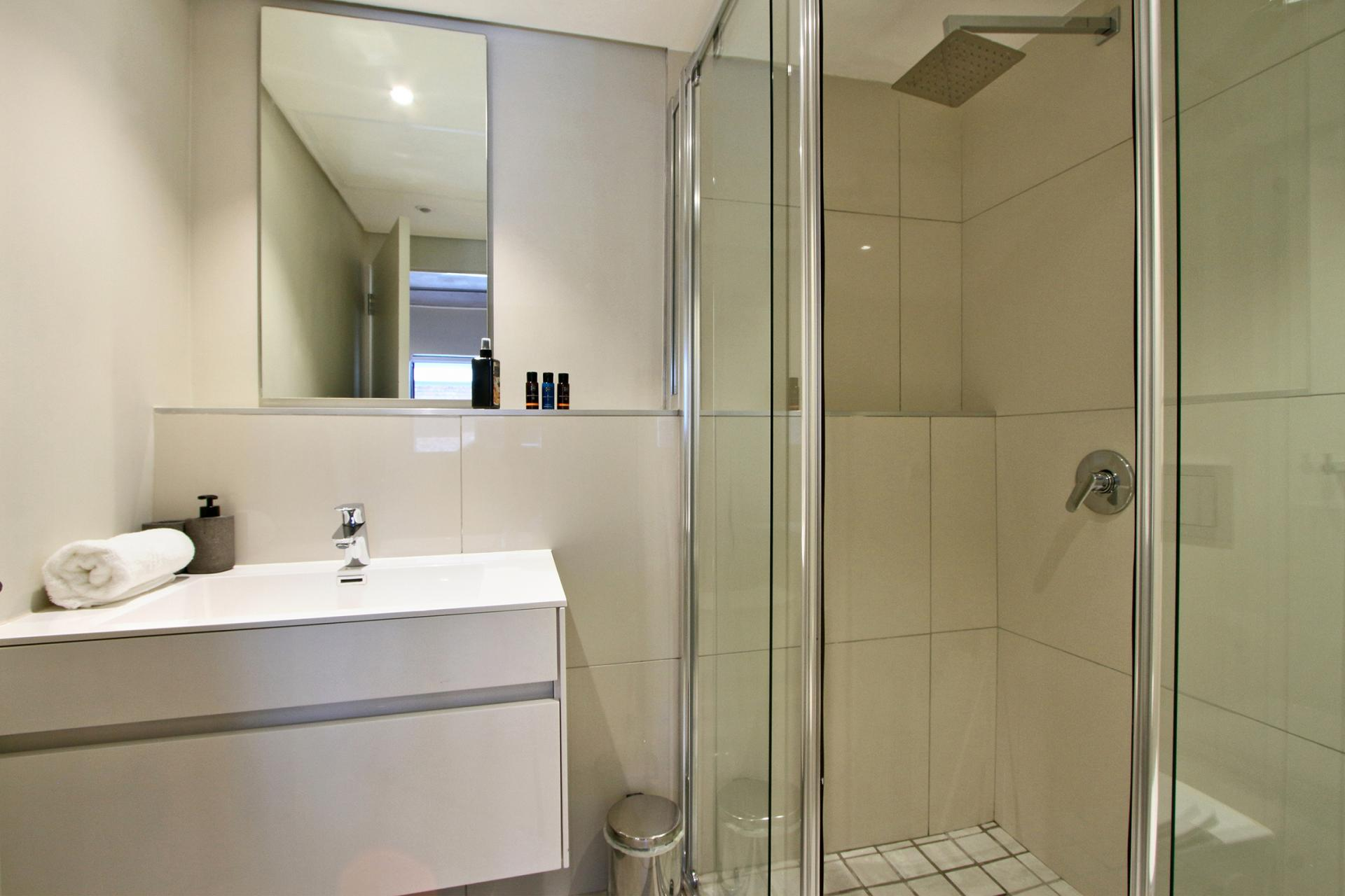 Shower at Docklands Cape Town Apartments, Green Point, Cape Town