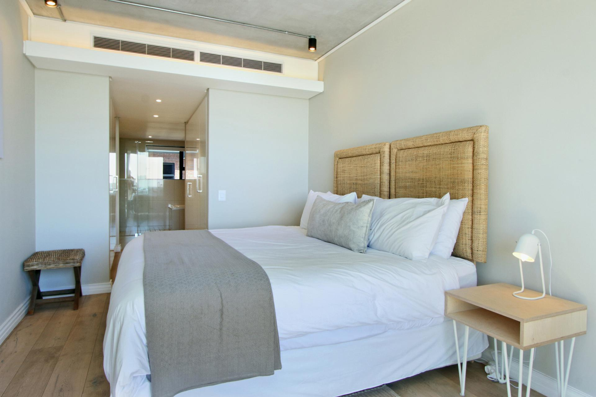 Bright bedroom at Docklands Cape Town Apartments, Green Point, Cape Town