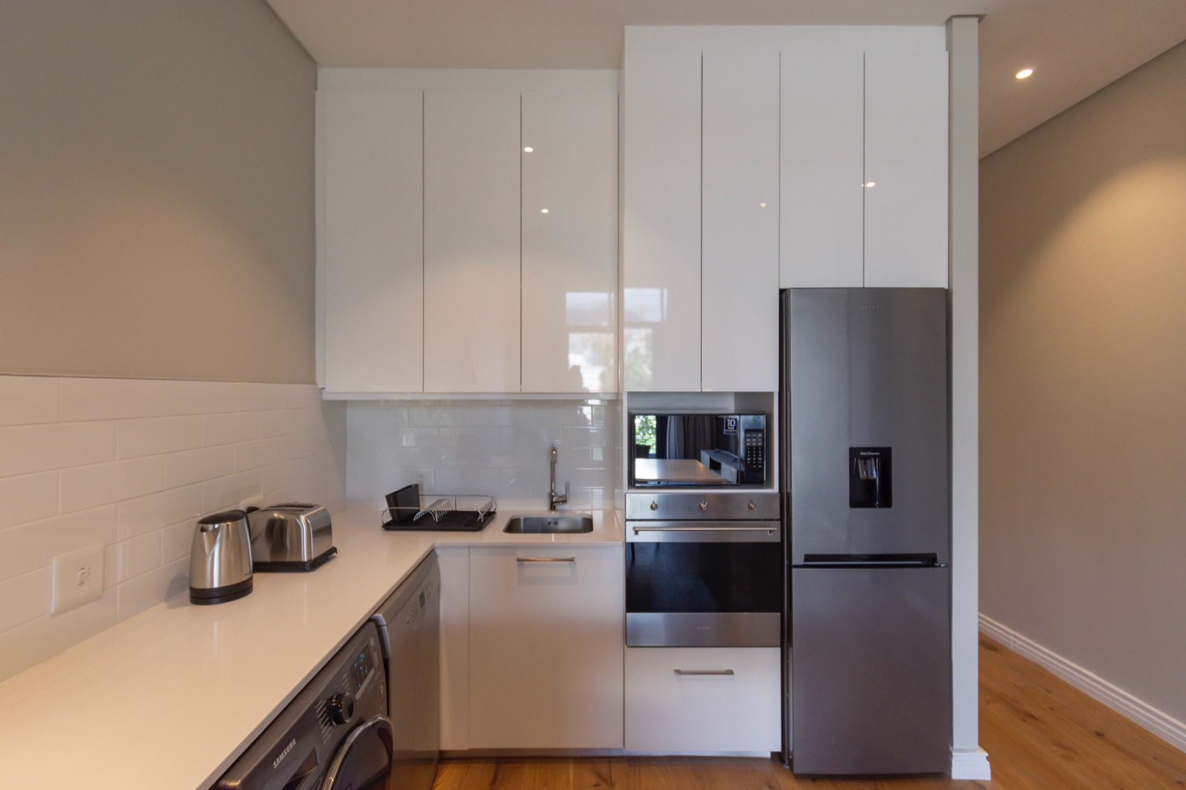 Sleek kitchen at Docklands Cape Town Apartments, Green Point, Cape Town