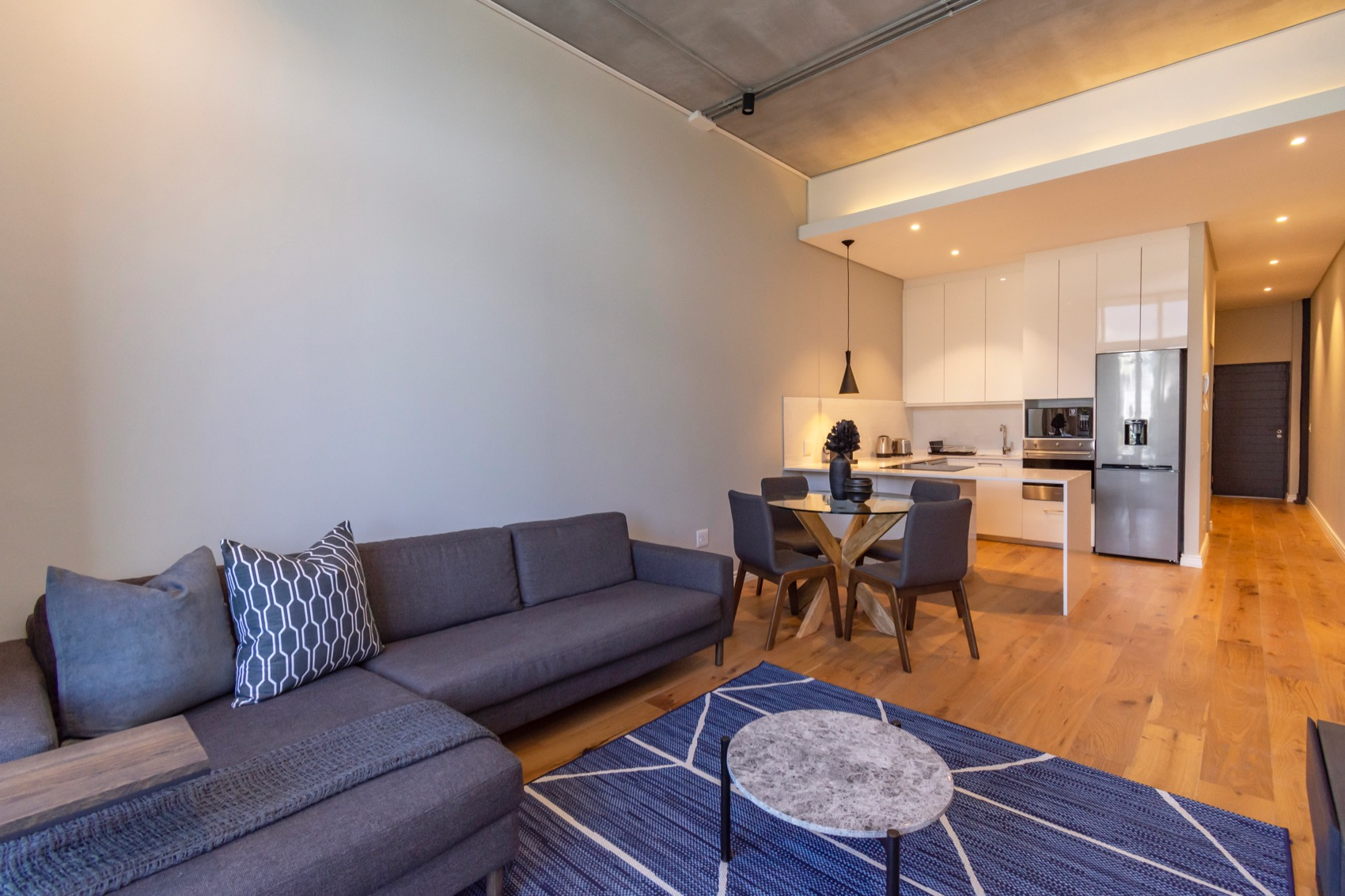 Open-plan design at Docklands Cape Town Apartments, Green Point, Cape Town