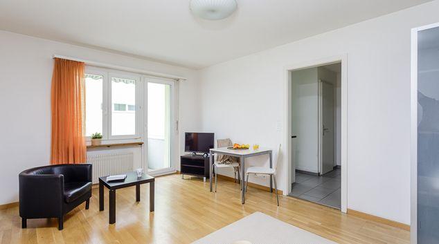 Living room at Swiss Star Residences