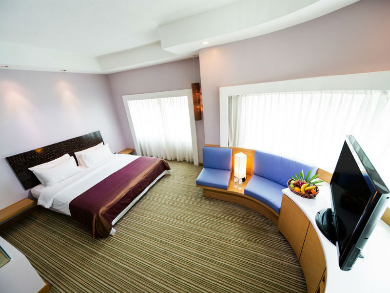 Bed at Village Hotel Changi, Loyang, Singapore