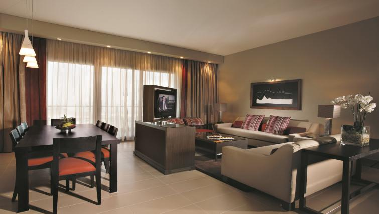 Spacious living area at Park Arjaan Apartments