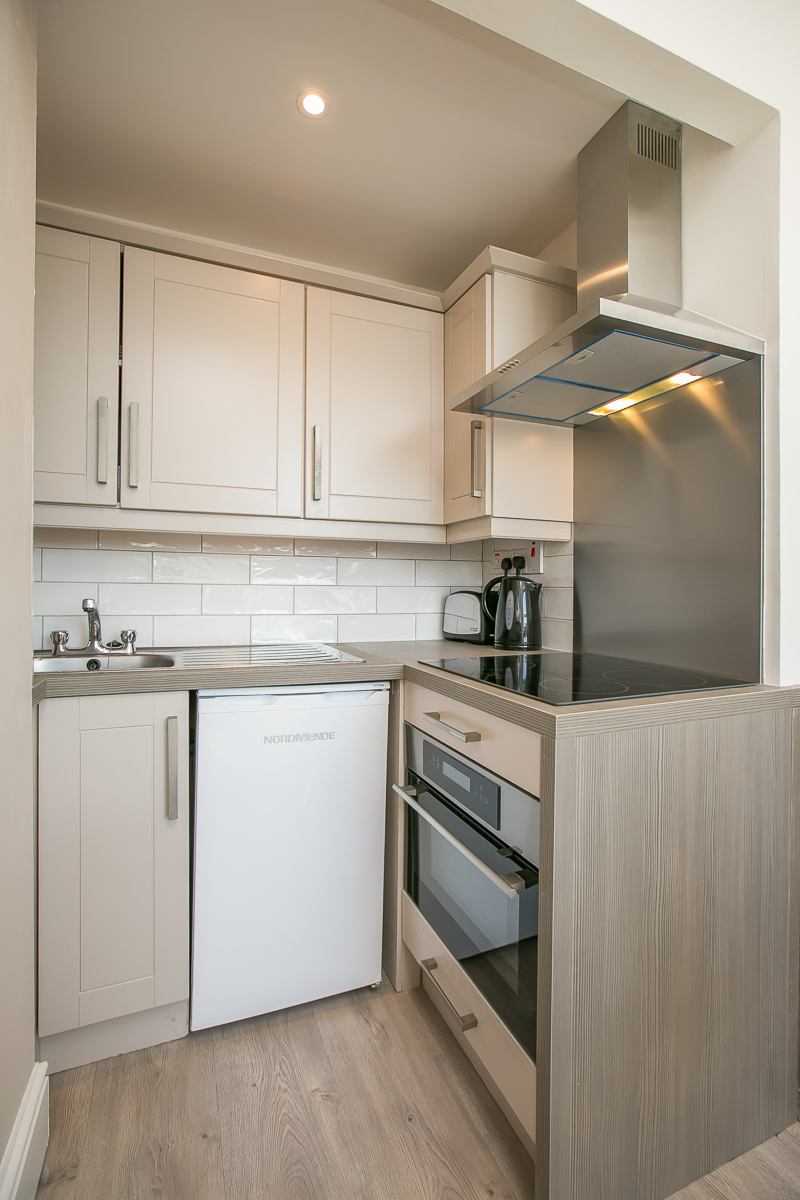 Fully equipped kitchen at Portobello Apartments