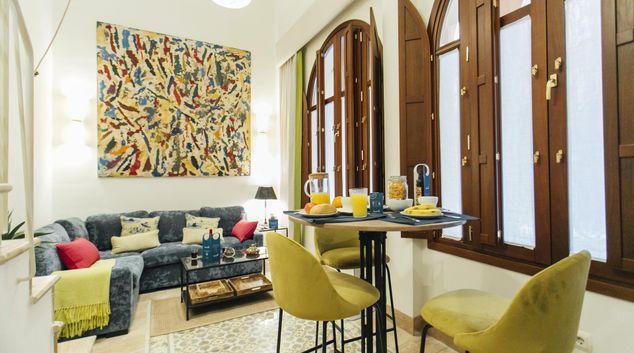 Living area at Pajaritos Apartment