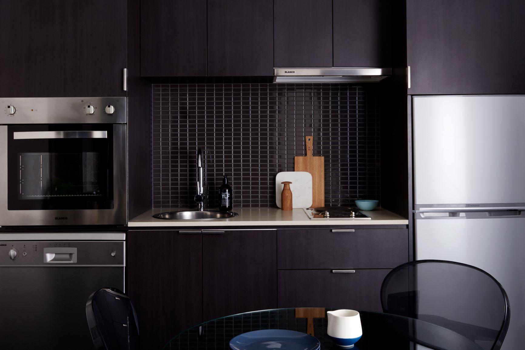 Kitchen at South Yarra Grand Apartments