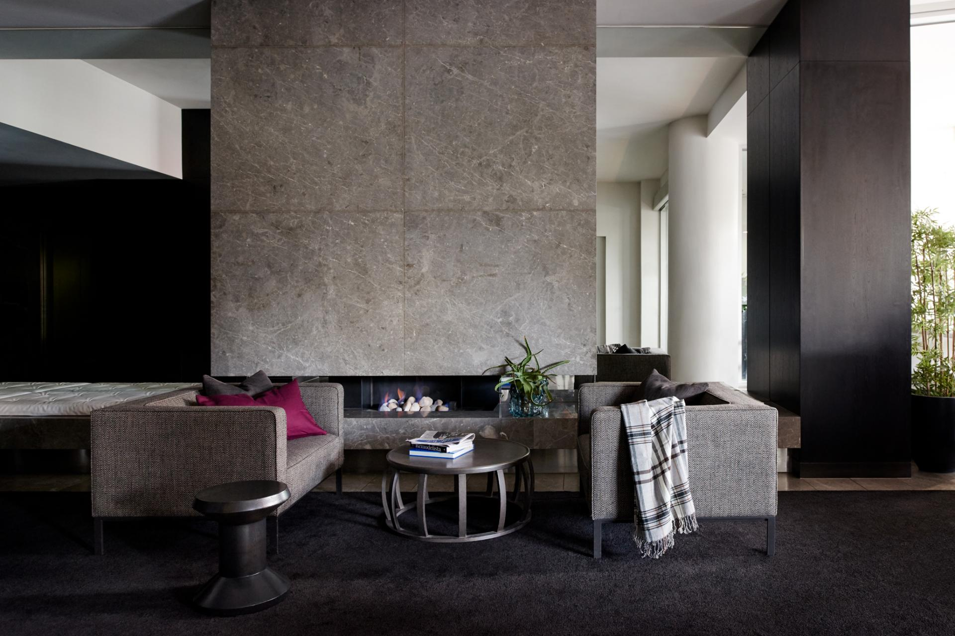 Lounge area at South Yarra Grand Apartments
