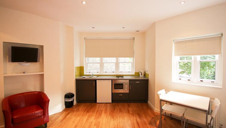 Convenient kitchen at St James House