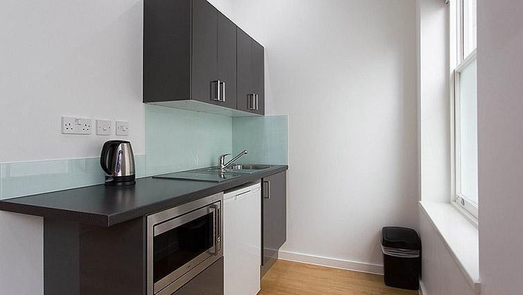 Studio kitchenette at Ladbroke Studios and Apartments