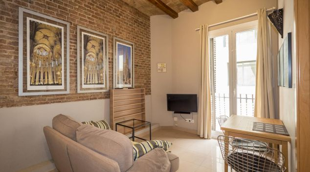 Living room at Calle Sant Pere Martir Apartments