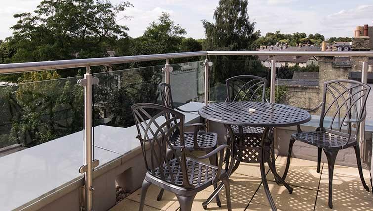 Balcony in The Hamiltons Apartments