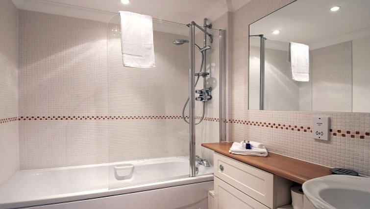 Neat bathroom in Manor House Apartments