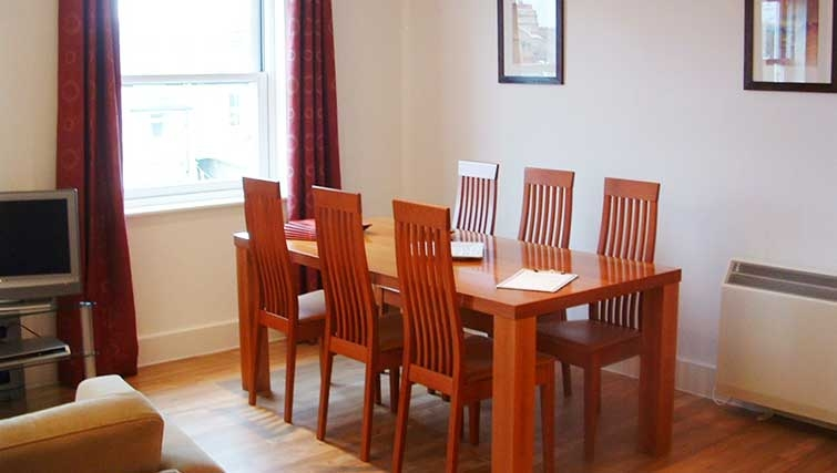 Dining area at Manor House Apartments