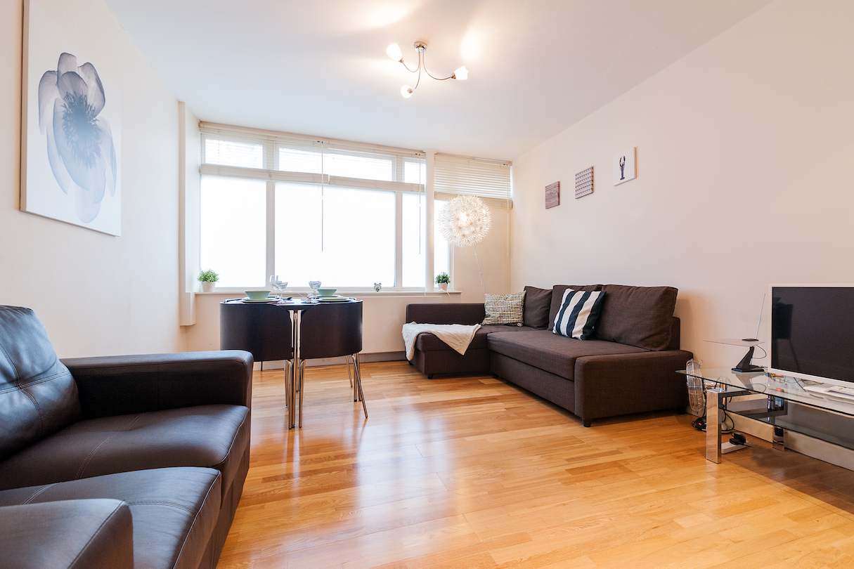 Living area at Angel Serviced Apartments