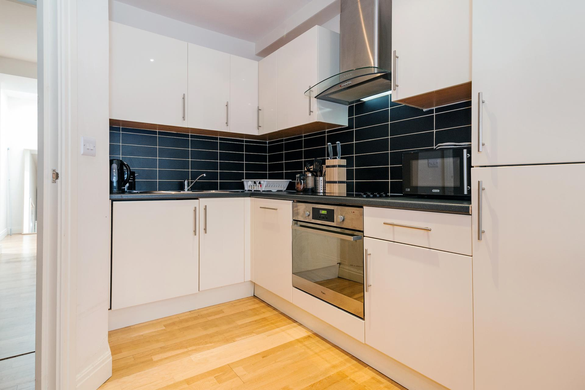 Kitchen at Angel Serviced Apartments