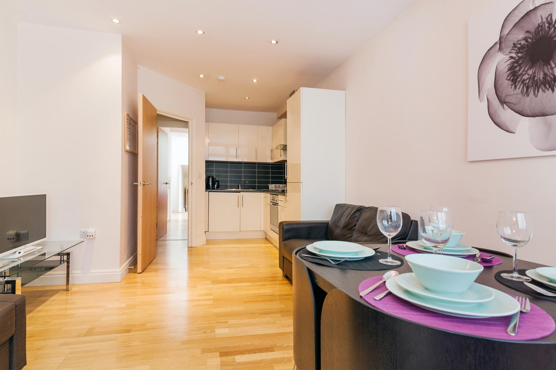 Dining area at Angel Serviced Apartments