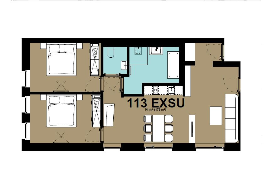 Exec suite  floor plan at Hammerschmidt Apartments