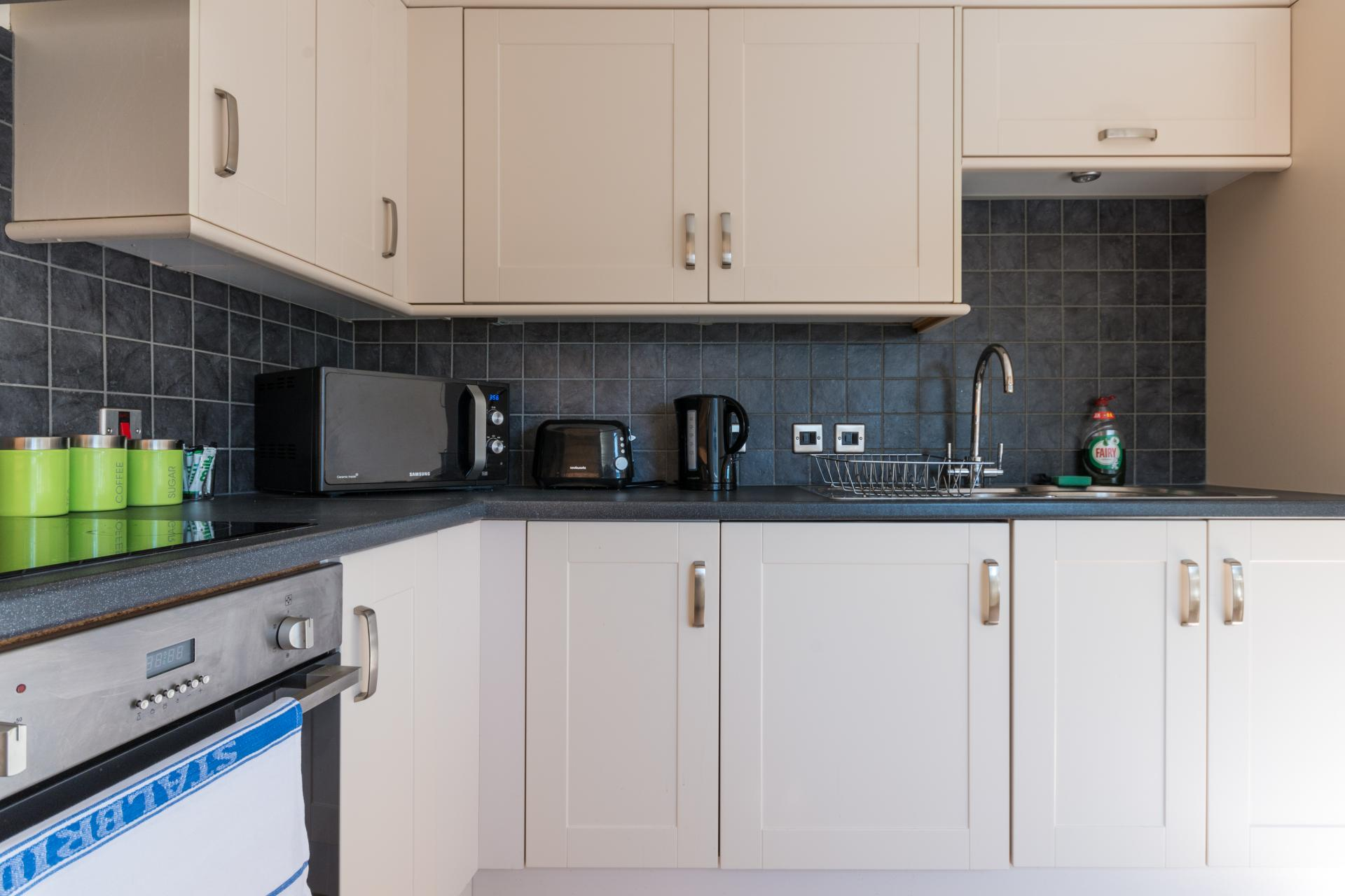 Fully equipped kitchen at Westlecot House Apartments