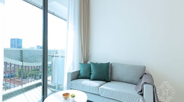 Living room at City Gate Apartment, Singapore