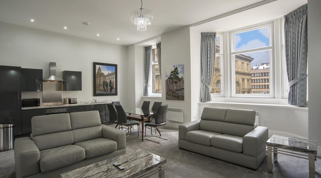 Living room at 42 Castle Street Apartments