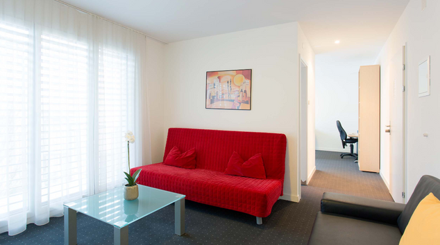 Living area at Luzernerstrasse Apartment, Cham, Zug