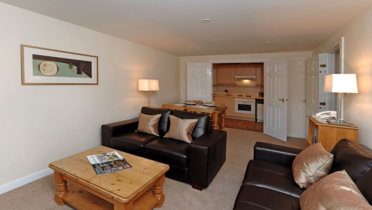 Cosy living area in Grove Apartments