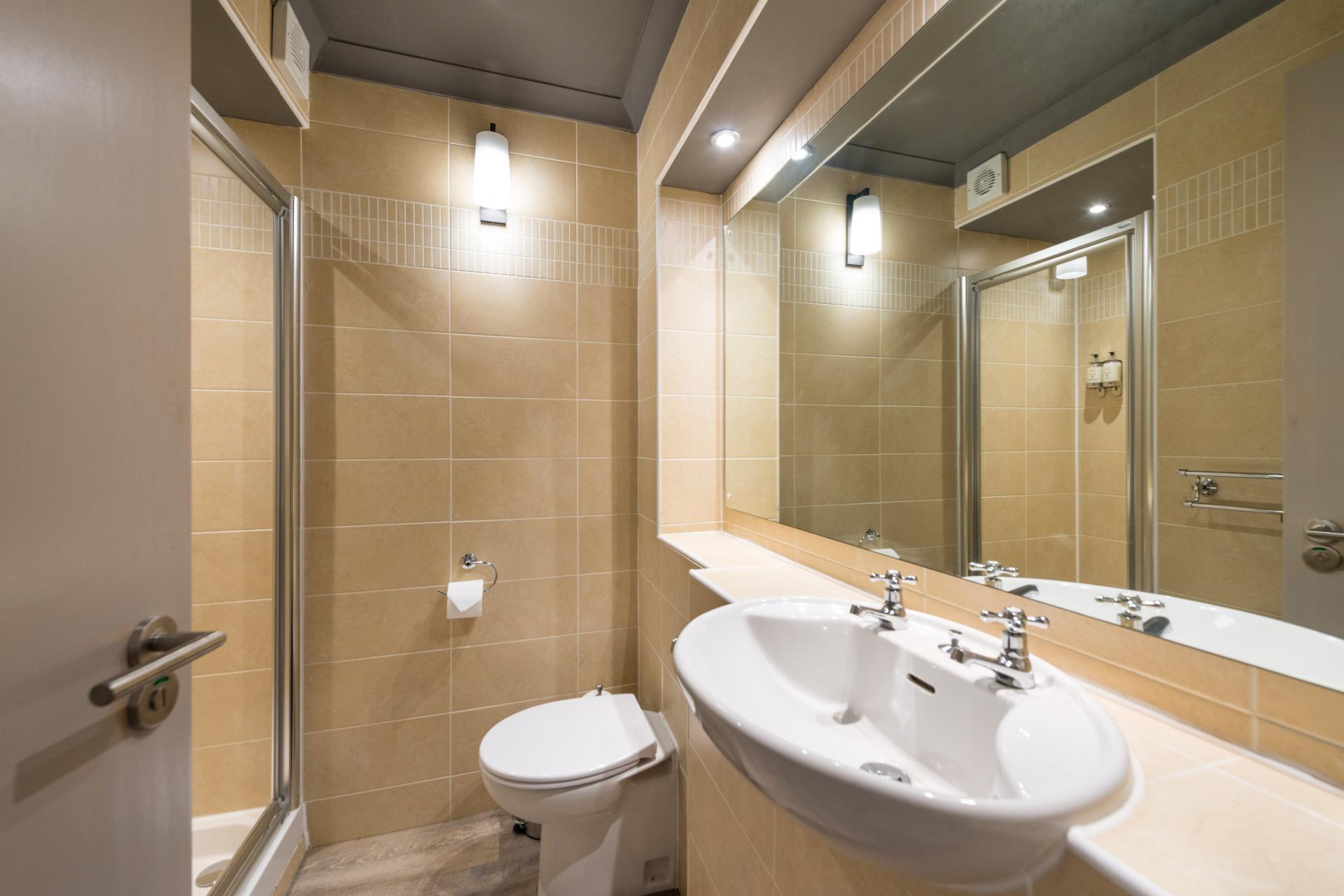 Modern bathroom in Grove Apartments