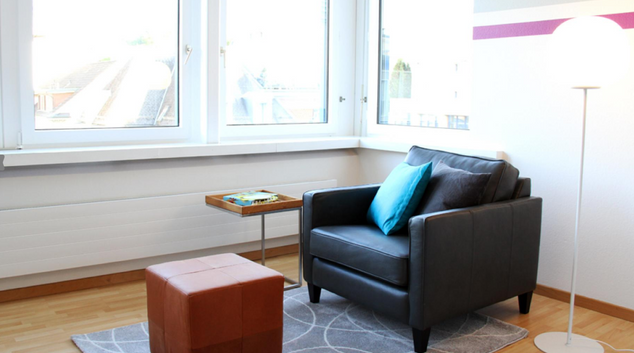 Living room at Baare Superior Apartment, Centre, Zug