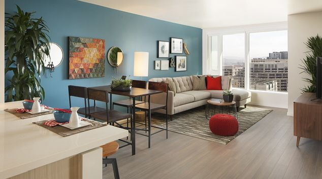 Living Room at Solaire Apartments
