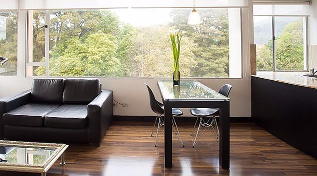 Living room at Art Gallery Apartments